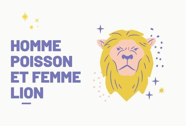 HOMME POISSON ET FEMME LION